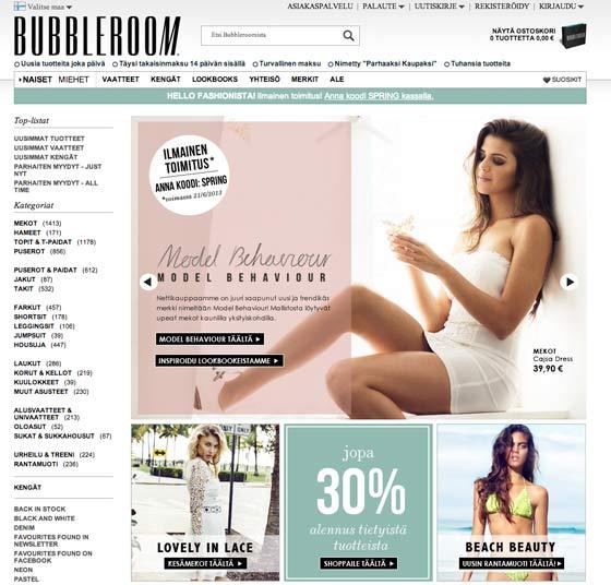 Bubbleroom verkkokauppa
